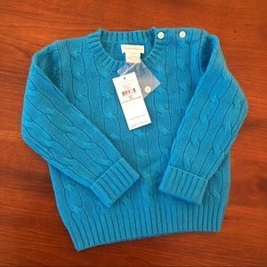 Ralph Lauren 100% Cashmere cable knit sweater